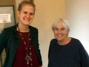 Da sinistra Laura Belloni Sonzogni di PxP Lodi ed Ester Chicco Psicologi Nel mondo