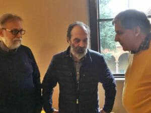Da sinistra Leonardo Montecchi Paolo Bernabucci e Massimo Mari