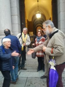 Ester Chicco e Leonardo Montecchi alla consensus conference di Esprí a Milano il 24 novembre 2018. In secondo piano Fabio Sbattella e Vittoria Ardino